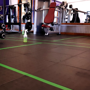 Banda marcare/protectie 3M 764i vinil verde, 50mm x 33m, marcare terenuri sport indoor, 700062997811