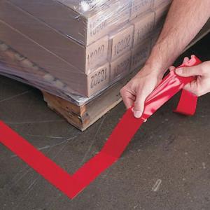 Banda marcare/protectie 3M 764i vinil rosu, 50mm x 33m, marcare terenuri sport indoor, 700062998642
