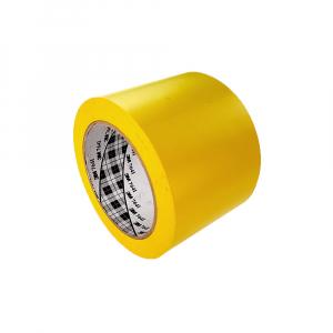 Banda marcare/protectie 3M vinil galben, 75mm x 33m, aplicatii generale si marcare spatii periculoase 70006299641-750