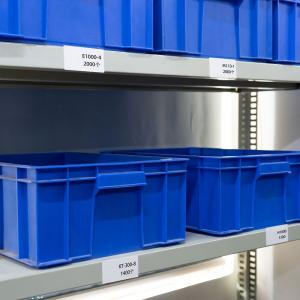 Etichete termice biblioraft 20 x 100 mm, plastic alb, permanente, 1 rola, 160 etichete/rola, pentru imprimanta M110 si M2003
