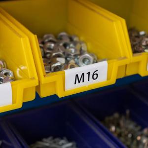 Etichete termice biblioraft 20 x 100 mm, plastic alb, permanente, 1 rola, 160 etichete/rola, pentru imprimanta M110 si M2006