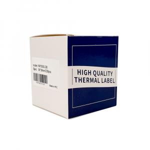 Etichete termice universale 30 x 30mm, plastic alb, permanente, 1 rola, 230 etichete/rola, pentru imprimanta M110 si M20019