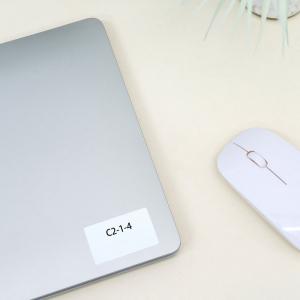 Etichete termice universale 40 x 15mm, plastic alb, permanente, 1 rola, 400 etichete/rola, pentru imprimanta M110 si M2003