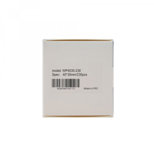 Etichete termice universale 40 x 30mm, plastic alb, permanente, 1 rola, 230 etichete/rola, pentru imprimanta M110 si M20013