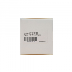 Etichete termice universale 40 x 40mm, plastic alb, permanente, 1 rola, 180 etichete/rola, pentru imprimanta M110 si M20019