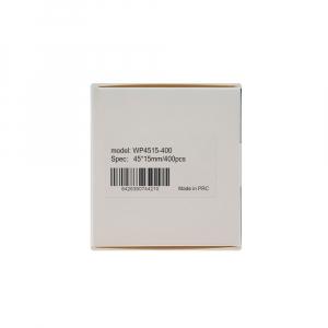 Etichete termice universale 45 x 15mm, plastic alb, permanente, 1 rola, 400 etichete/rola, pentru imprimanta M110 si M20012