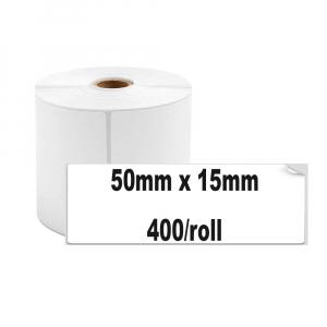 Etichete termice universale 50 x 15mm, plastic alb, permanente, 1 rola, 400 etichete/rola, pentru imprimanta M110 si M2001