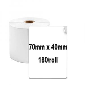 Etichete termice universale 70 x 40mm, plastic alb, permanente, 1 rola, 180 etichete/rola, pentru imprimanta AYMO M2000