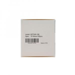 Etichete termice universale 70 x 40mm, plastic alb, permanente, 1 rola, 180 etichete/rola, pentru imprimanta AYMO M20013