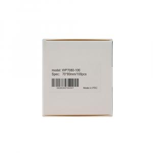 Etichete termice universale 70 x 80mm, plastic alb, permanente, 1 rola, 100 etichete/rola, pentru imprimanta AYMO M20018