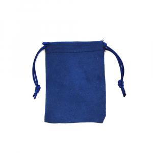 Saculet nabuc (imitatie piele) albastru 11cm x 8.5cm