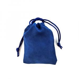 Saculet nabuc (imitatie piele) albastru 11cm x 8.5cm1