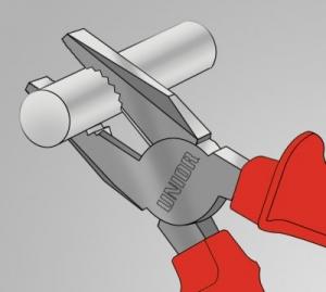 Cleste combinat 406/1VDEBI UNIOR 1000v, Rosu-Portocaliu, 160 mm, 610421,3