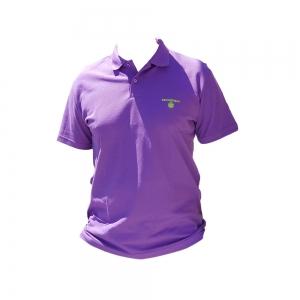 Polo shirt for Men purple collar 100% cotton piqué with buttons