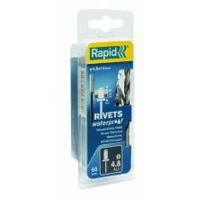 Popnituri Rapid etansare - diametrul de 4 mm x 14 mm, aluminiu, burghiu inclus, 50 buc/ blister0