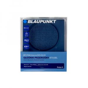 Boxa portabila Blaupunkt BT03BL Bluetooth, 3W, autonomie 7 ore, FM, slot microSD card, cablu incarcare microUSB/USB, cablu conectare Jack 3.5 mm, albastru5