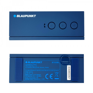 Boxa portabila Blaupunkt BT03BL Bluetooth, 3W, autonomie 7 ore, FM, slot microSD card, cablu incarcare microUSB/USB, cablu conectare Jack 3.5 mm, albastru3