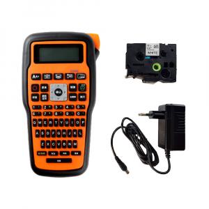 Aparat etichetat Sanco E1000 profesional portabil compatibil cu toate benzile Brother cu latime 6, 9, 12mm, incarcator la retea 230V1