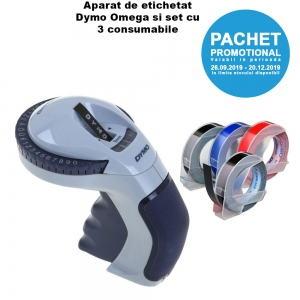 Promo Pack Dymo Omega Home Embossing Label Maker and 3D Plastic Embossing Labels28