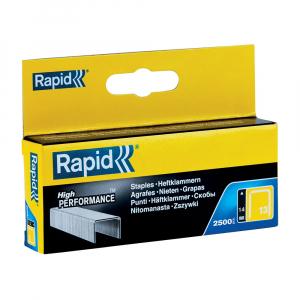 Capse Rapid 13/14 mm, galvanizate, sarma subtire, pentru tapiterie, 2500/cutie carton 118505250