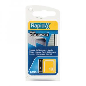 Capse Rapid 13/6 mm, galvanizate, sarma subtire, pentru tapiterie, 1650/blister slim 4010951917