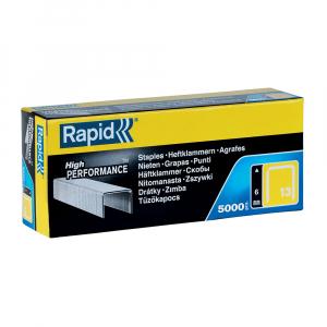 Capse Rapid 13/6 mm, galvanizate, sarma subtire, pentru tapiterie, 5.000/cutie 118307000