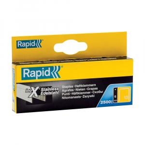 Capse Rapid 13/6 mm sarma subtire din otel inoxidabil, pentru tapiterie, 2500/cutie carton 118307260