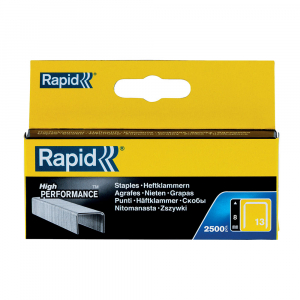 Capse Rapid 13/8 mm, galvanizate, sarma subtire, pentru tapiterie, 2500/cutie carton 1183562514