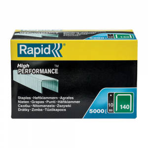 Capse Rapid 140/10, sarma plata galvanizata, High Performance, pentru acoperis, 5000 capse/cutie carton 1191071123