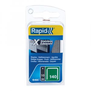 Capse Rapid 140/10,otel inoxidabil, pentru ambalaje, 648 capse/blister 4010957523