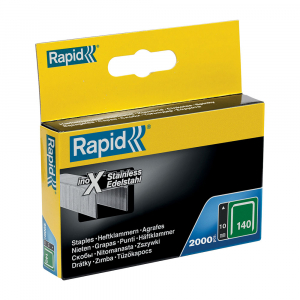 Capse Rapid 140/10, sarma plata otel inoxidabil, High Performance, pentru acoperis, 2000 capse/cutie carton 119107330