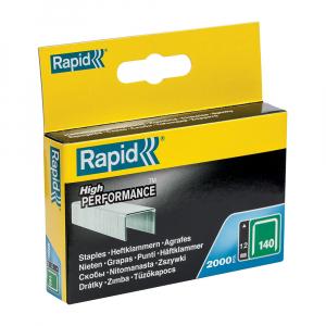 Capse Rapid 140/12, sarma plata galvanizata, High Performance, pentru acoperis, 2000 capse/cutie carton 119123310