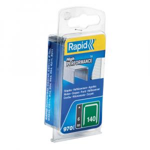 Capse Rapid 140/6, sarma plata galvanizata, High Performance, pentru ambalaje, 970 capse/blister 401095130