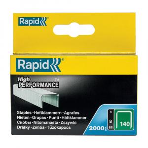 Capse Rapid 140/8, sarma plata galvanizata, High Performance, pentru acoperis, 2000 capse/cutie carton 1190813123