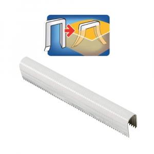 Capse albe Rapid 28/9 mm pentru cabluri, High Performance, galvanizate, semicirculare, divergente, 1000 capse/cutie 118901301