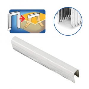Capse albe Rapid 36/14 mm pentru cabluri, High Performance, galvanizate, semicirculare, divergente, 1000 capse/cutie 118869111