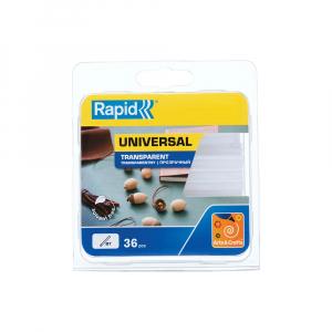 Baton silicon Rapid Decoratiuni Fun to Fix transparent, Universal, Ø7mm x 90mm, baza EVA, 36 buc/blister 401079480
