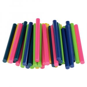 Baton silicon Rapid Decoratiuni Fun to Fix color Modern (albastru, galben, roz, verde si vernil), Universal, Ø7mm x 90mm, baza EVA, 36 buc/blister 50014261