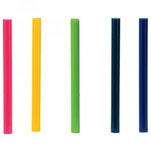 Baton silicon Rapid Decoratiuni Fun to Fix color Modern (albastru, galben, roz, verde si vernil), Universal, Ø7mm x 90mm, baza EVA, 36 buc/blister 500142610