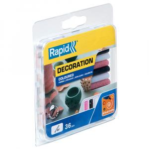 Baton silicon cu sclipici Rapid (alb, roz, negru), Universal, Ø7mm x 90mm, baza EVA, 36 buc/blister 50014229