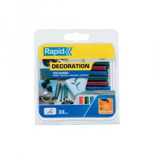 Baton silicon cu sclipici Rapid (verde, rosu, albastru), Universal, Ø7mm x 90mm, baza EVA, 36 buc/blister 50014240