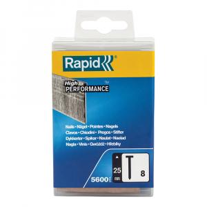 Cuie otel galvanizat Rapid 8/25, High Performance, 25mm, 5600 cuie/cutie plastic 500018311