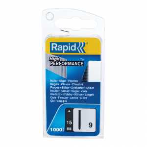 Pini Rapid 9/15, cuie fara floare, otel galvanizat, High Performance, 15mm, 1000 pini/blister 401095384