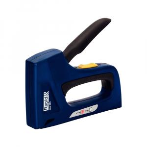 Capsator tacker Rapid ALU753E Dual, reglare forta capsare, corp aluminiu, grip cauciuc, capse 53/6-14 mm, cuie 8/15, 3 ani garantie, 251208010