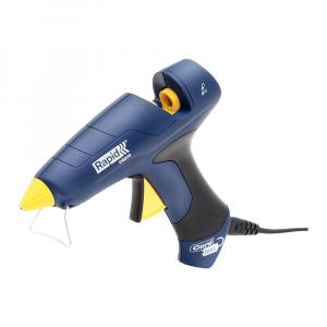 Pistol de lipit Rapid CG270 fara cablu, 7 minute functionare fara cablu alimentare, batoane silicon Ø12mm, 250W, debit 400 g/ora, duze interschimbabile 50004437