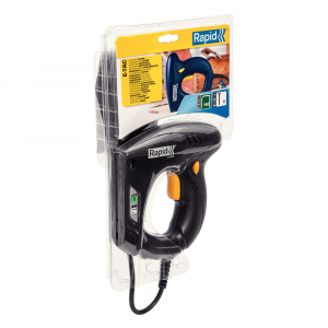 Capsator electric Rapid E-TAC pentru capse si cuie DIY, magazie duala, capse 140/6-14mm, cuie 8/15mm, sistem siguranta 50005733