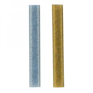 Pistol de lipit Rapid EG130 Temperatura Scazuta Deko Kit, batoane silicon Oval, 130⁰C, 100W, debit 80 g/h, include batoane silicon cu sclipici, 5 buc argintii si 5 buc aurii, 500044520
