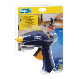 Pistol de lipit Rapid EG212, batoane silicon 12mm, maxim 180⁰C, 200W, debit 250 g/ora, 50004424