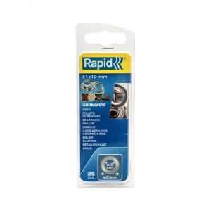 Ocheti Rapid diametru 10mm, otel finisat argintiu, include sistem de fixare, 25 buc/set 50004120