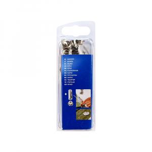 Ocheti Rapid diametru 6.0mm, otel finisat argintiu, include sistem de fixare, 25 buc/set 500041010